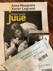 Theaterbillet Anna Mouglalis