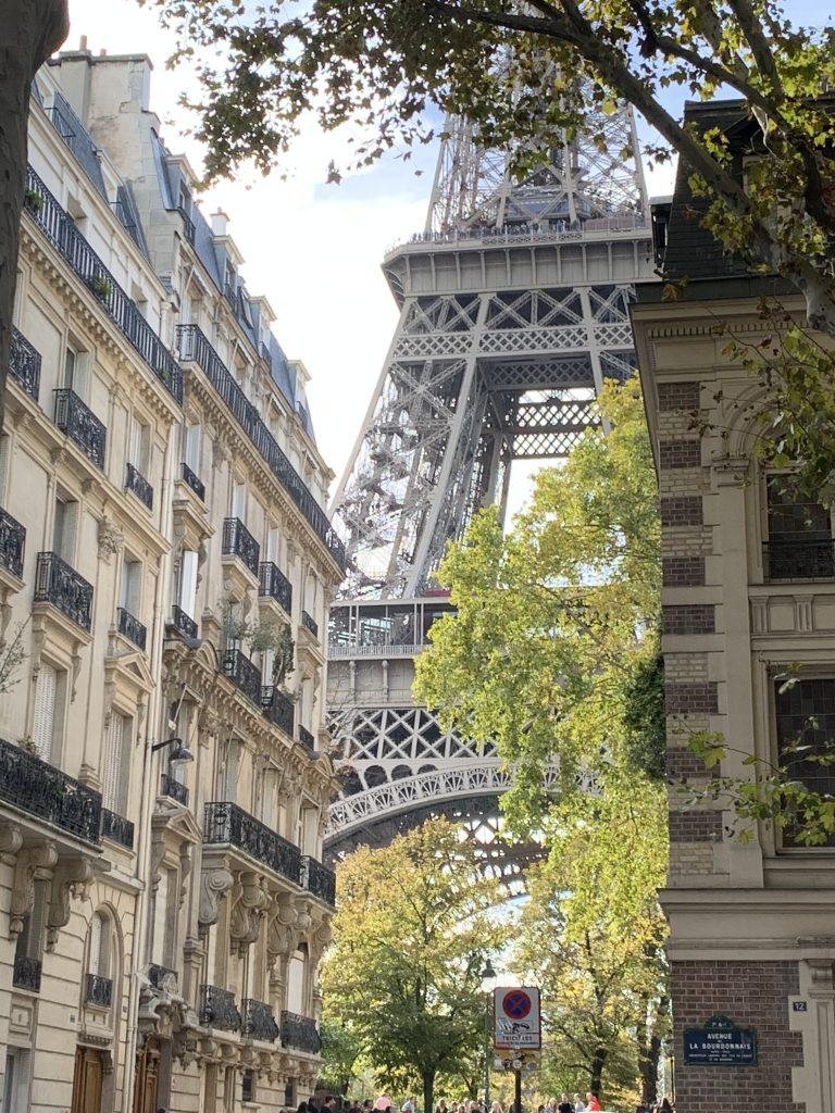 Blick auf den Eiffelturm , avenur la Bourdonnais