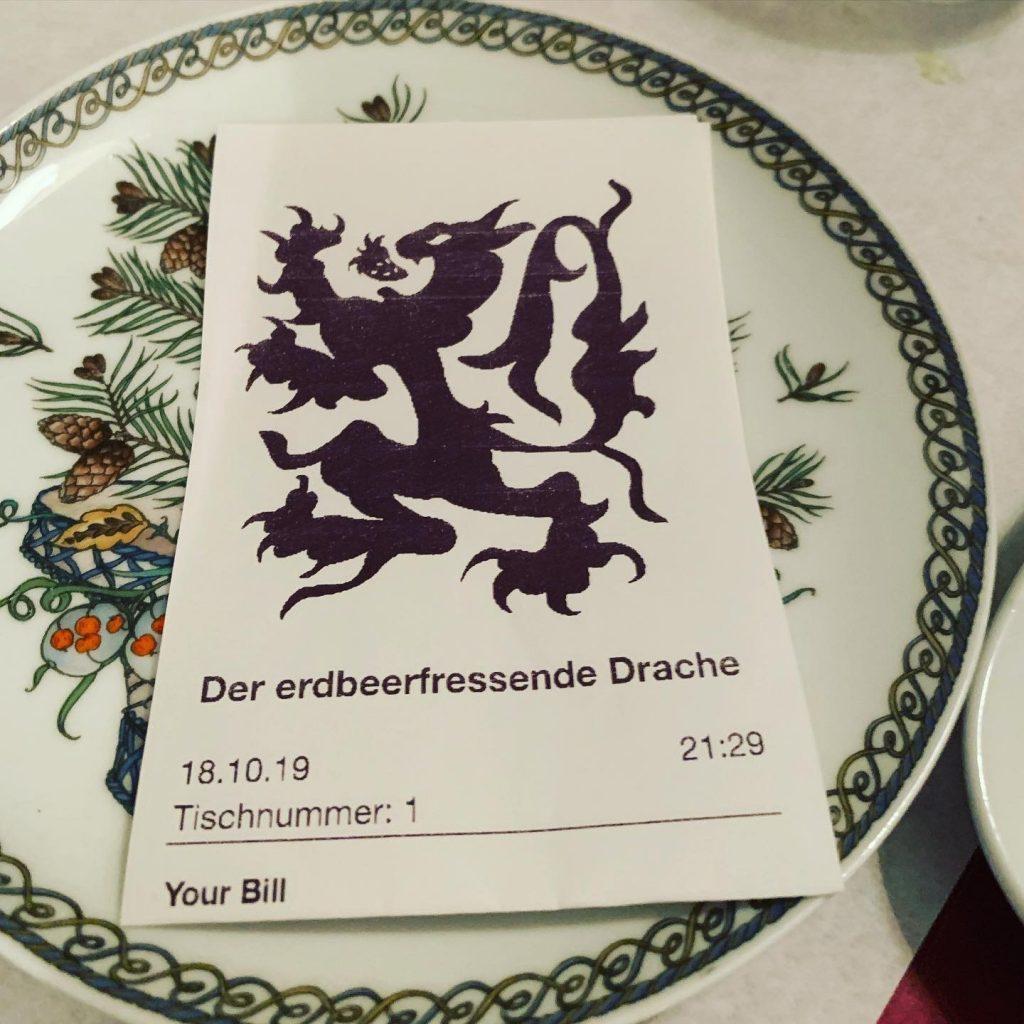 """Restaurantbon """"Der erdbeerfressende Drache"""""""